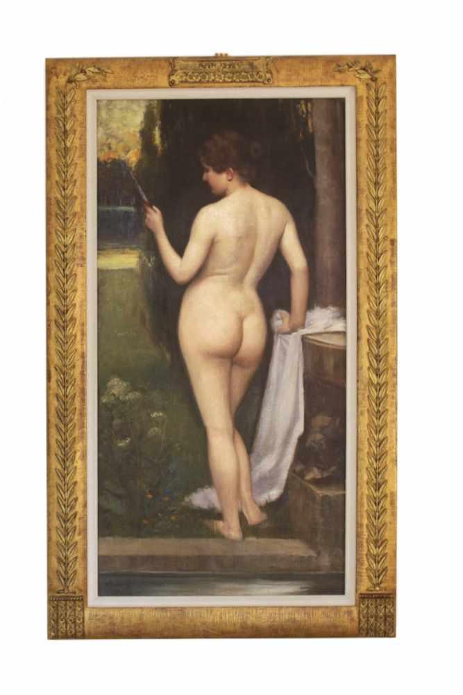 BILDNIS EINER NACKTEN DAME Fritz Zuber-Buhler (1822 - 1896), Öl auf Leinwand, 125 x 62 cm, in