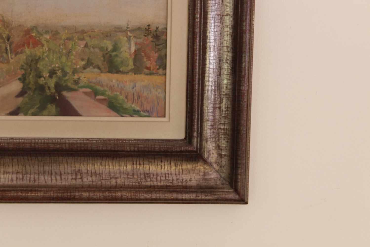 HOHLWEG IN GRINZING Laura Helmtraud Berwerth (1887 - 1963), Öl auf Holz, 39 x 29 cm, in Holzrahmen - Image 2 of 2