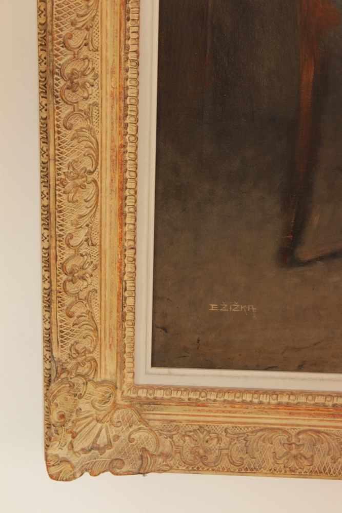PORTRAIT EINES ÄLTEREN HERREN Portrait eines düster schauenden älteren Herren, um 1880, Öl auf - Image 2 of 2