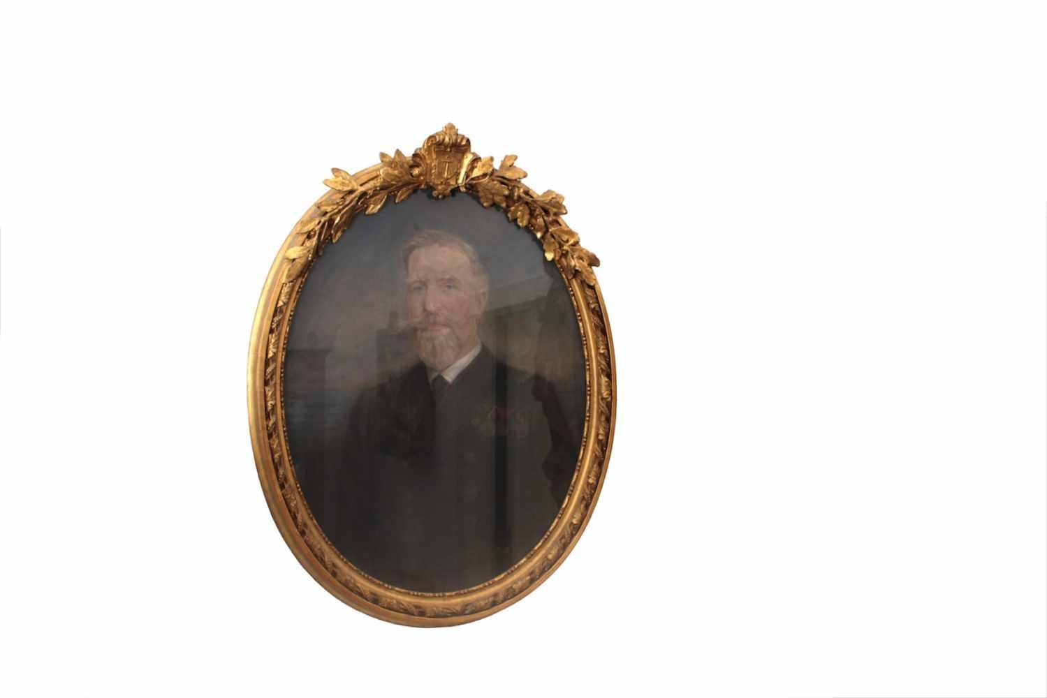 PORTRAIT EINES OFFIZIERS Portrait eines Offiziers aus der Familie Coburg, um 1880, Kohle auf Papier,