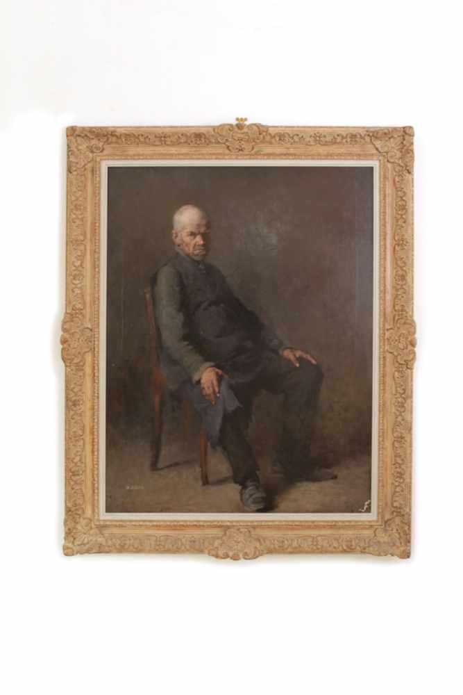 PORTRAIT EINES ÄLTEREN HERREN Portrait eines düster schauenden älteren Herren, um 1880, Öl auf