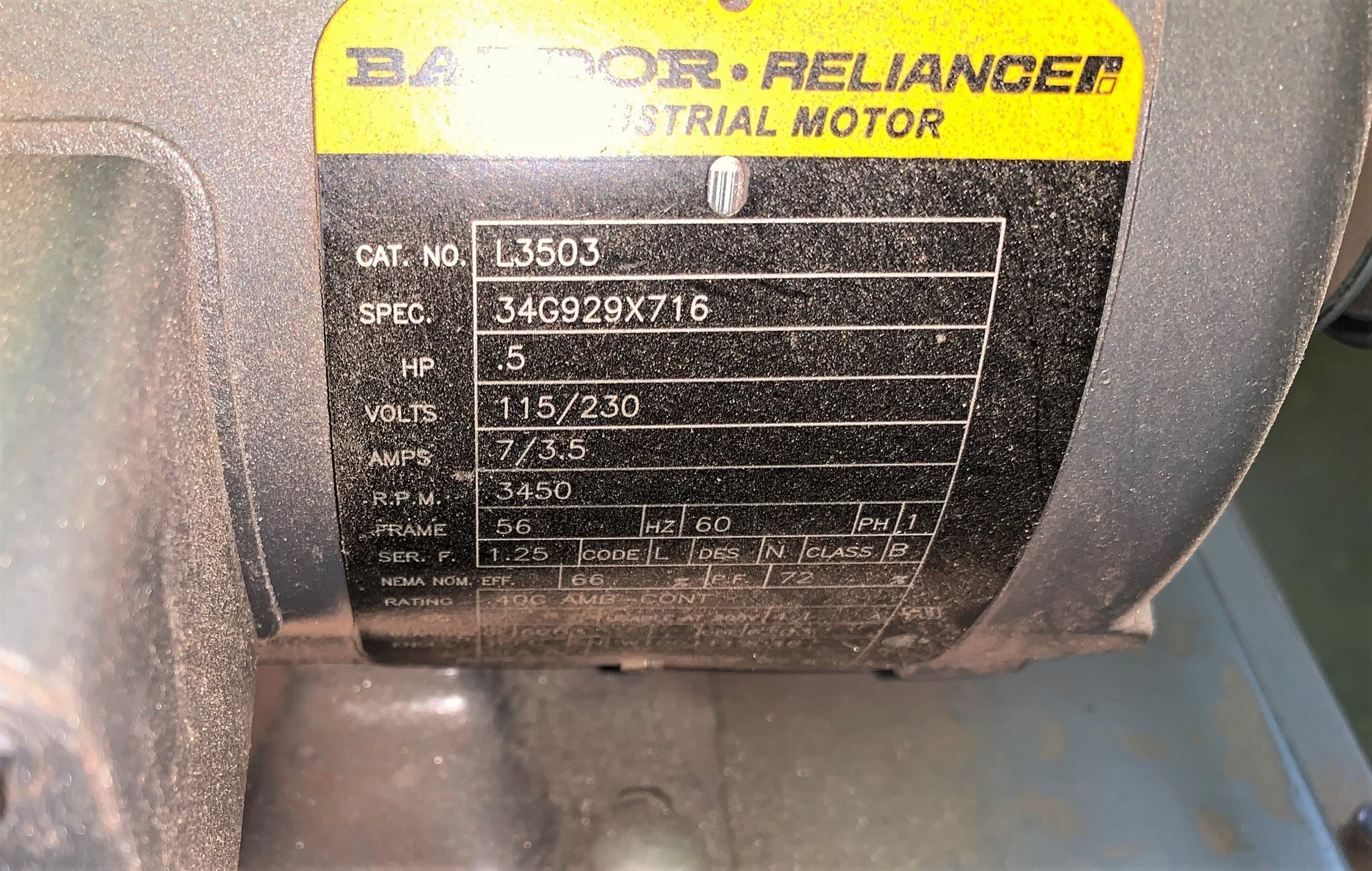 """Delta 1"""" Belt Sander / Grinder with Baldor .5Hp Motor (Located in Levittown, PA Facility) - Image 4 of 4"""