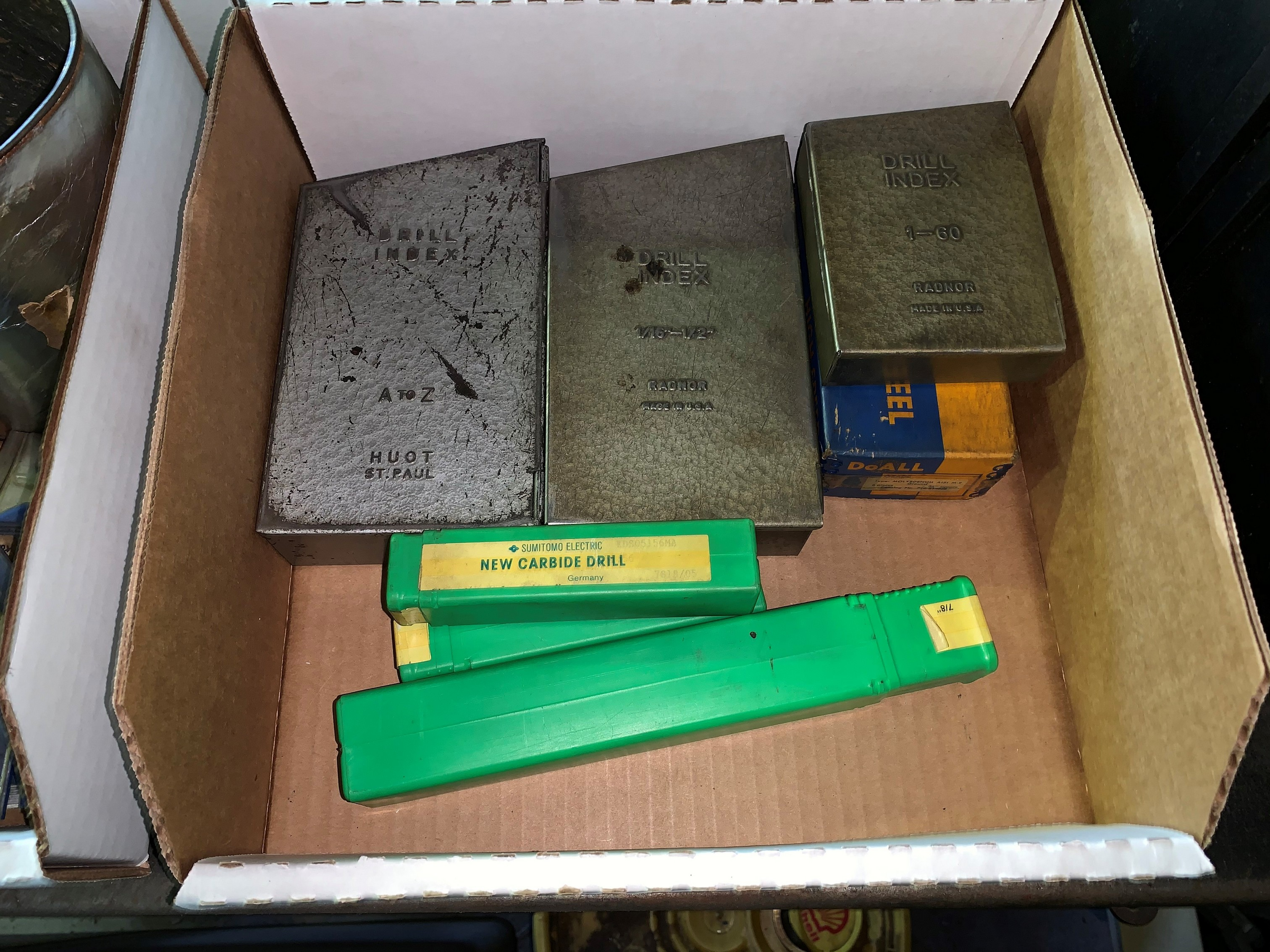 Lot with (3) Sets of Drill Indexes along with Drill Bits (Located in Levittown, PA Facility)