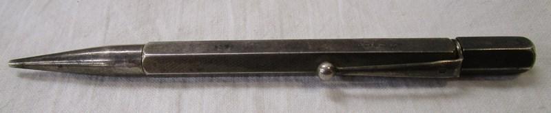 Silver propelling pencil