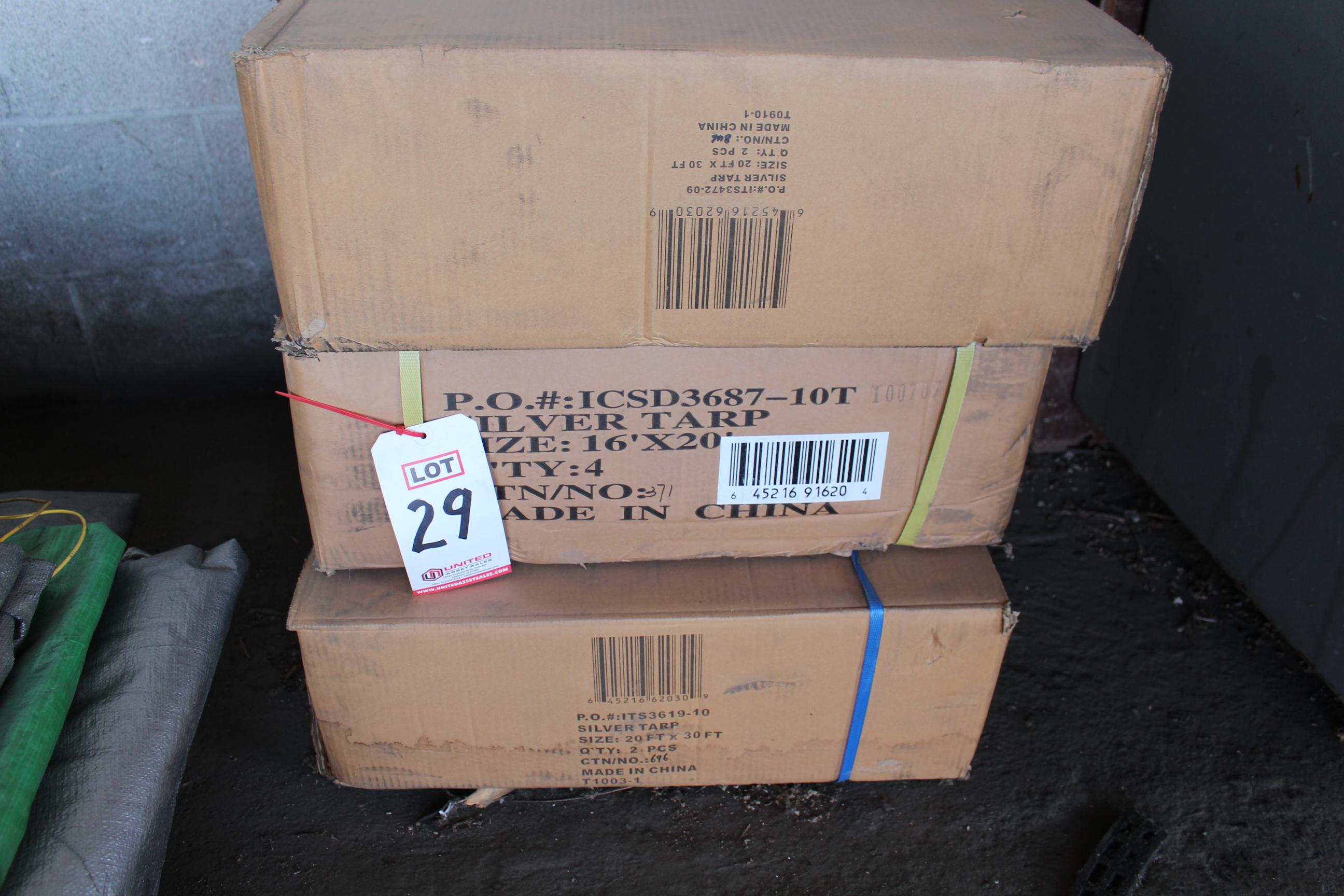 Lot 29 - VINYL TARPS (IN BOX)