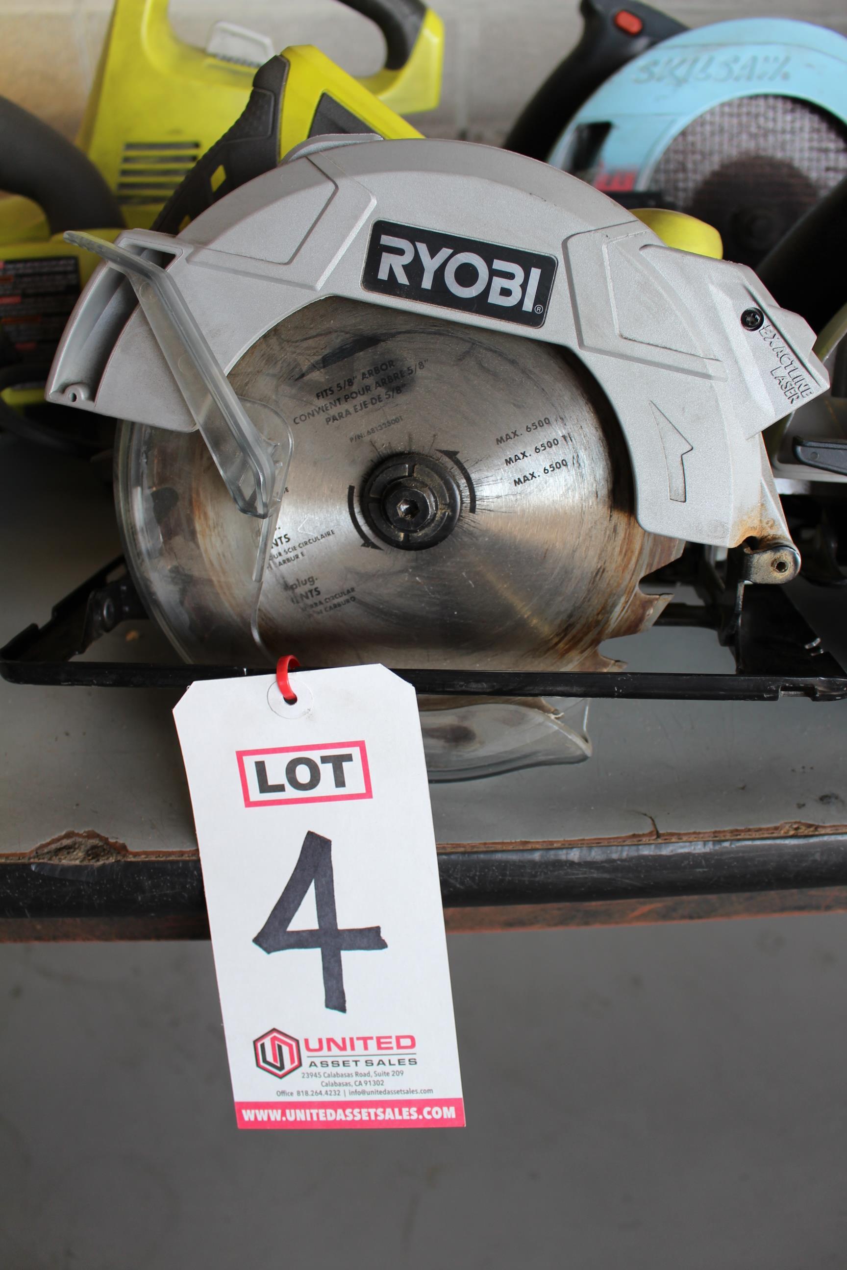 Lot 4 - RYOBI 1-1/4 ELECTRIC CIRCULAR SAW