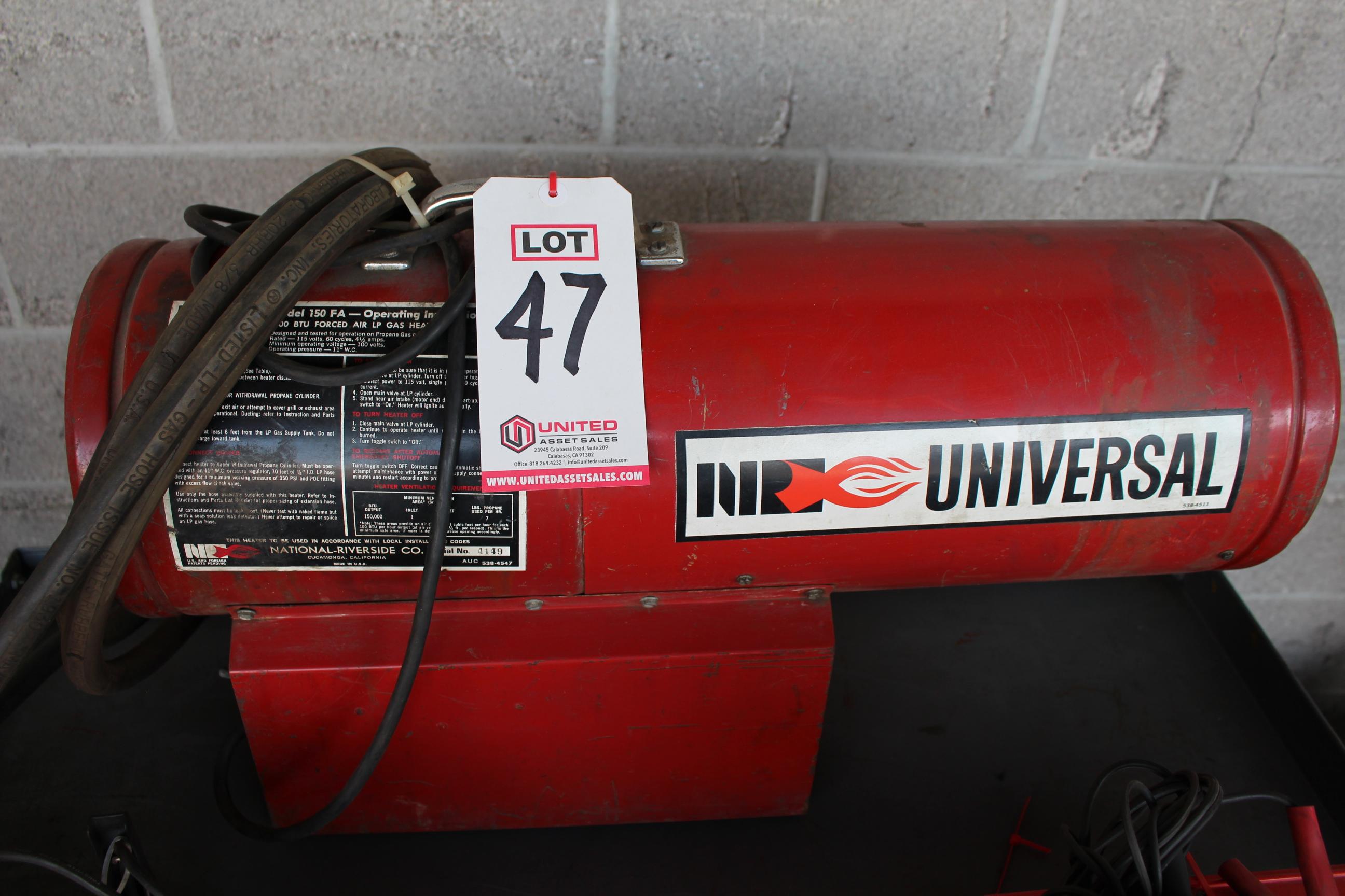 Lot 47 - NR FORCED AIR LP GAS HEATER