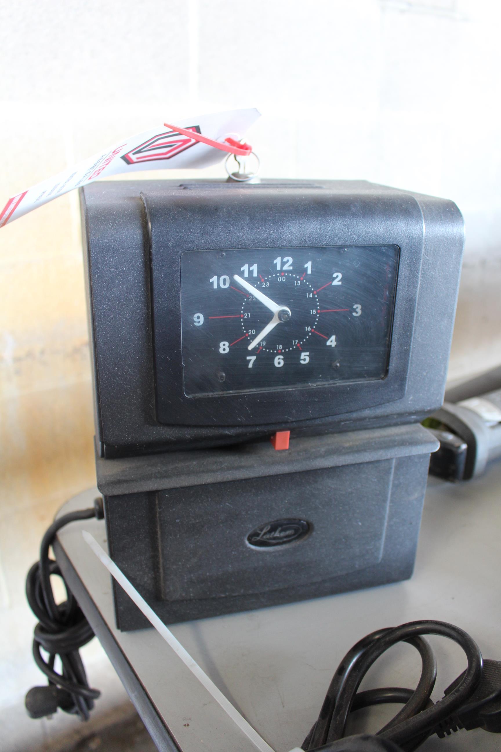 Lot 2 - LATHEM TIME CLOCK W/ KEY