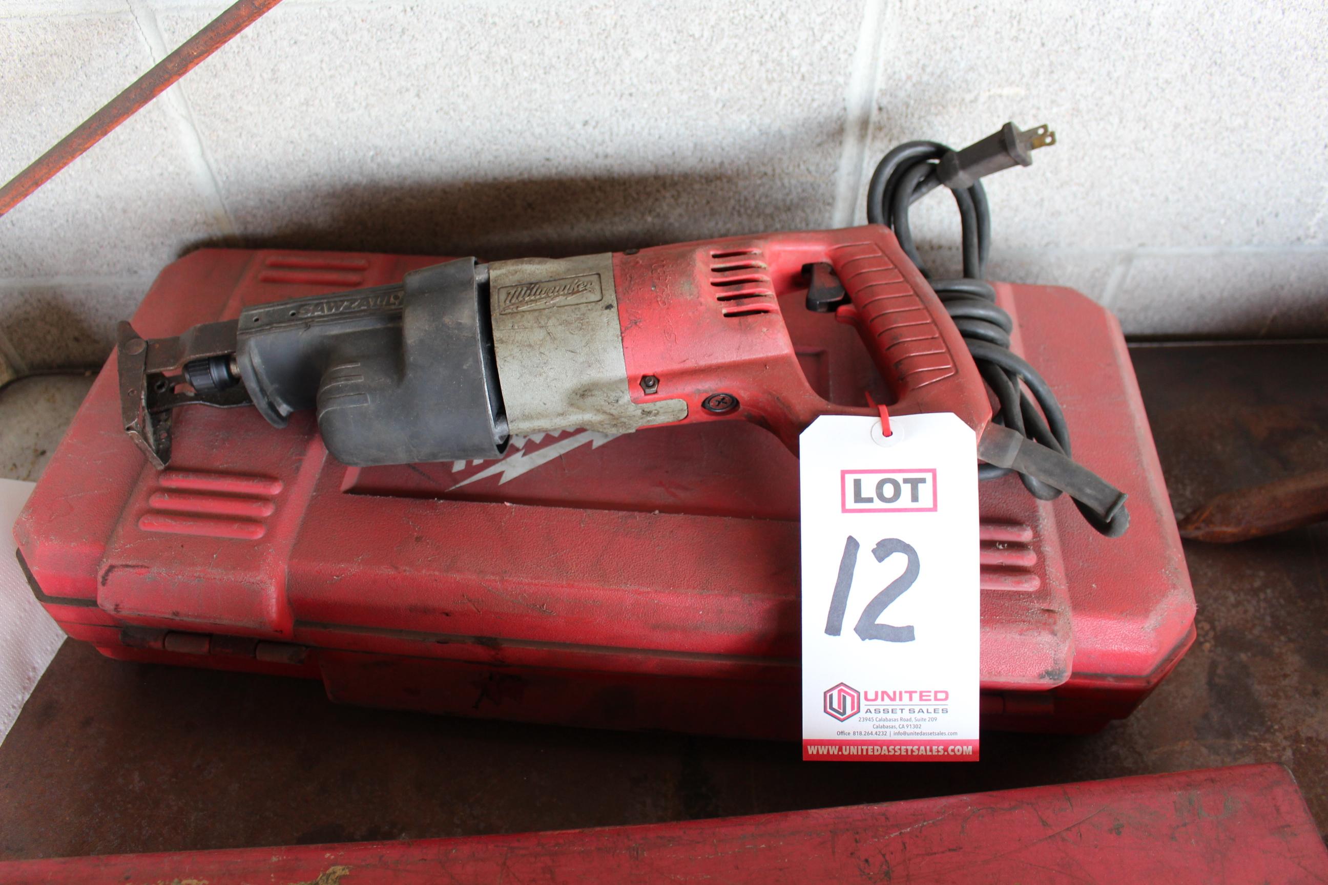 Lot 12 - MILWAUKEE SAWZALL W/ CASE