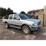 2006/06 REG FORD RANGER XLT THUNDER 2.5 DIESEL PICK-UP SILVER, 4 WHEEL DRIVE *NO VAT*