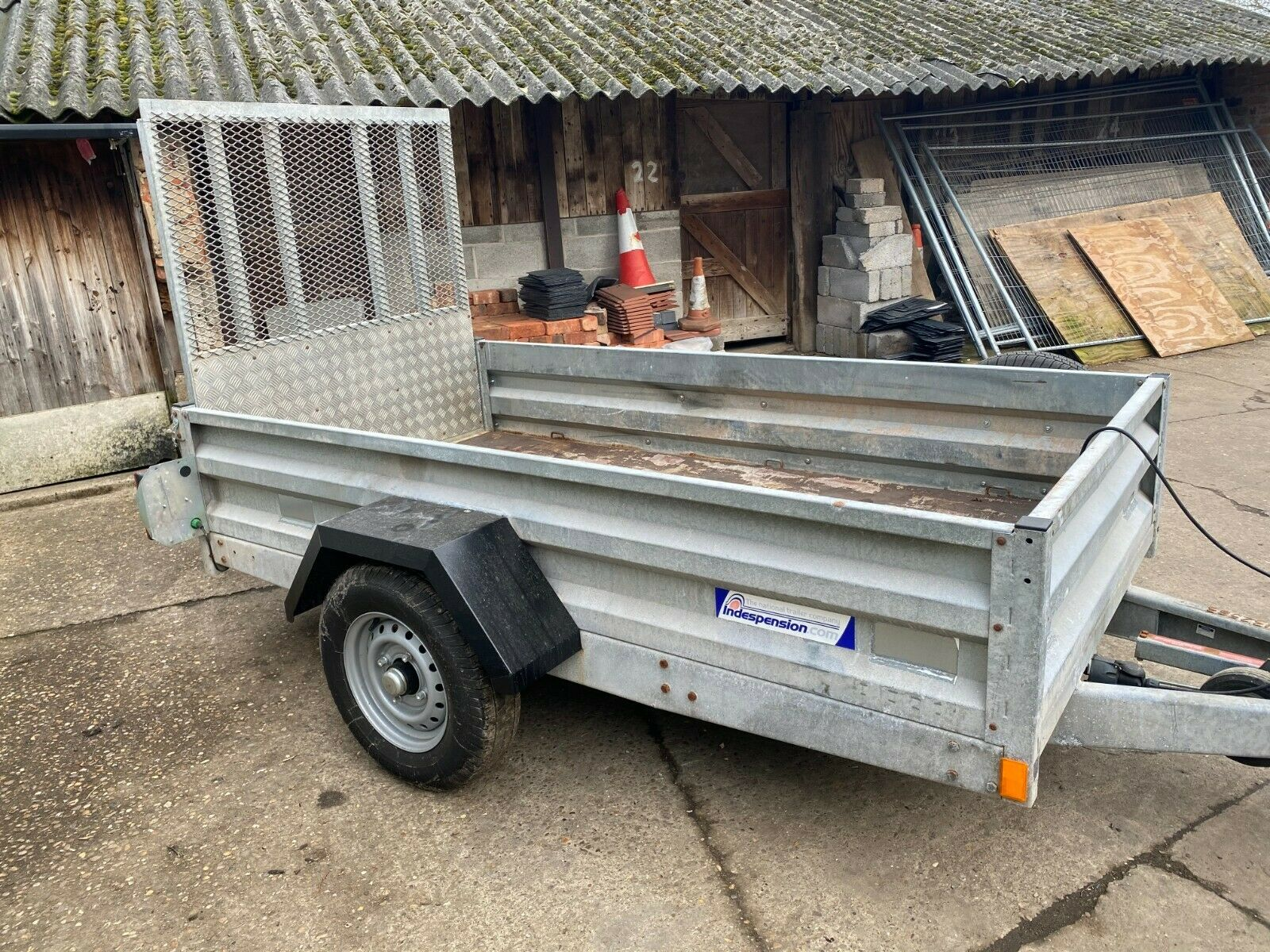 INDESPENSION HEAVY DUTY TRAILER, DROP DOWN TAILGATE, YEAR 2012 *PLUS VAT* - Image 2 of 6