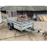 INDESPENSION HEAVY DUTY TRAILER, DROP DOWN TAILGATE, YEAR 2012 *PLUS VAT*