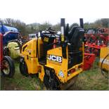 JCB VIBROMAX VMT 160 RIDE ON VIBRATING ROLLER, YEAR 2011, BELIEVED TO HAVE DONE 390 HOURS *PLUS VAT*