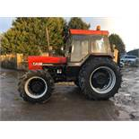 1985/C REG CASE INTERNATIONAL 885 DIESEL RED TRACTOR, RUNS AND WORKS, IN GOOD CONDITION *PLUS VAT*