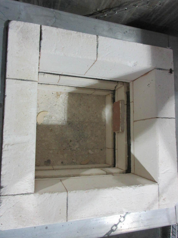 Lot 31 - GREEN GLASS FURNACE; 30X30X32 CAVITY [A#87][LOCATED IN Kiryat Malachi]