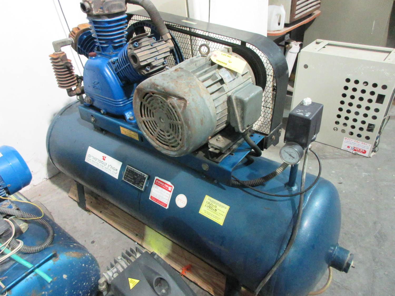 ASSOULINE MDL. MTE75 AIR COMPRESSOR; TANK 230L; TANK PRESSURE 16.5 BAR; MAX WORKING PRESSURE 11 BAR,