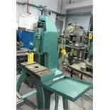 HERMAN HAULICK PRESS MACHINE; MEHANICAL SCREWPRESS; KICK-TYPE; 38X18 TABLE; 8 CM HEIGHT; 15 CM