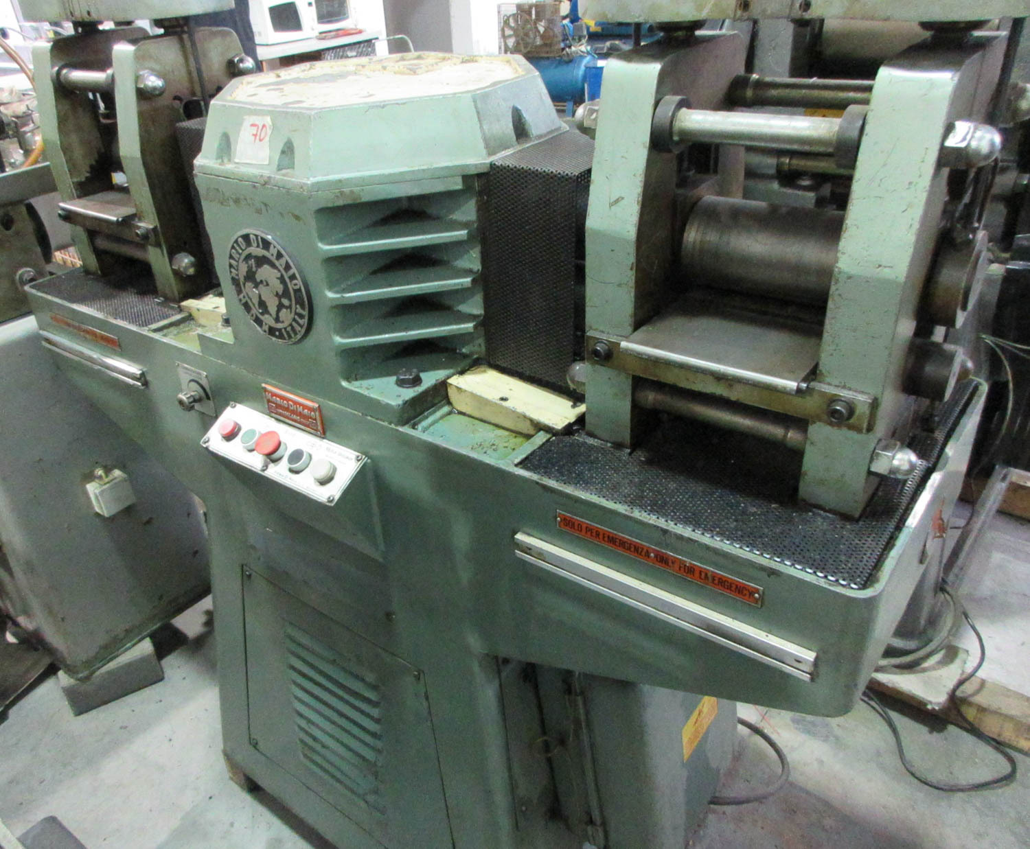 MARIO DI MAIO MDL. GLY60 AMBIL DOUBLE ROLLING MILL FOR PLATE AND WIRE REDUCTION; DOUBLE-SIDED PRESS; - Image 3 of 3