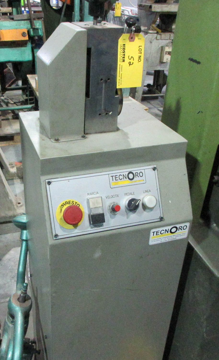 TECNORO (ITALY) BANGLE FORMING MACHINE (LATE MODEL) [A#227][LOCATED IN Kiryat Malachi]