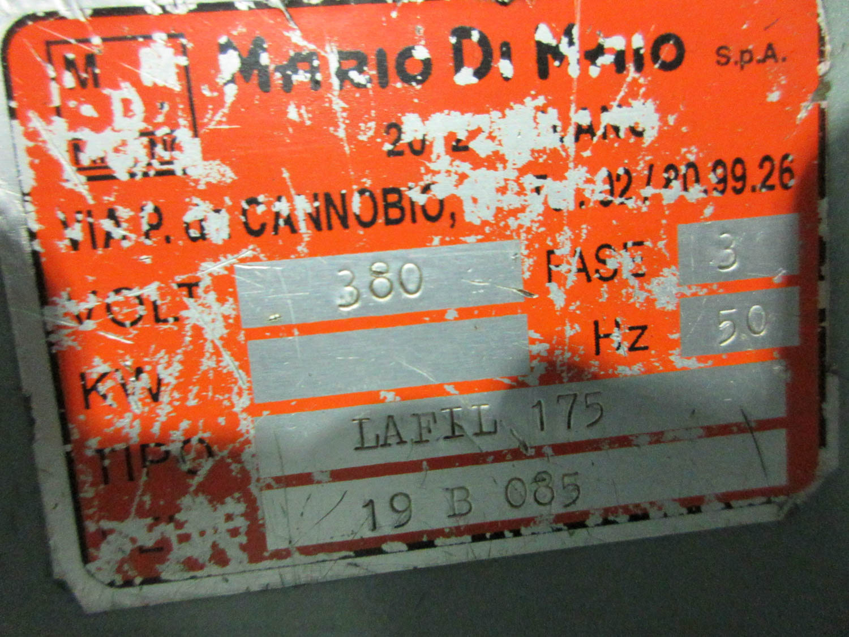 MARIO DI MAIO MDL. LAFIL 175 ROLLING MILL; 380V; 3 PH, 50HZ, (2) 18CM/EA ROLLS, S/N: 19B085 [A# - Image 3 of 3