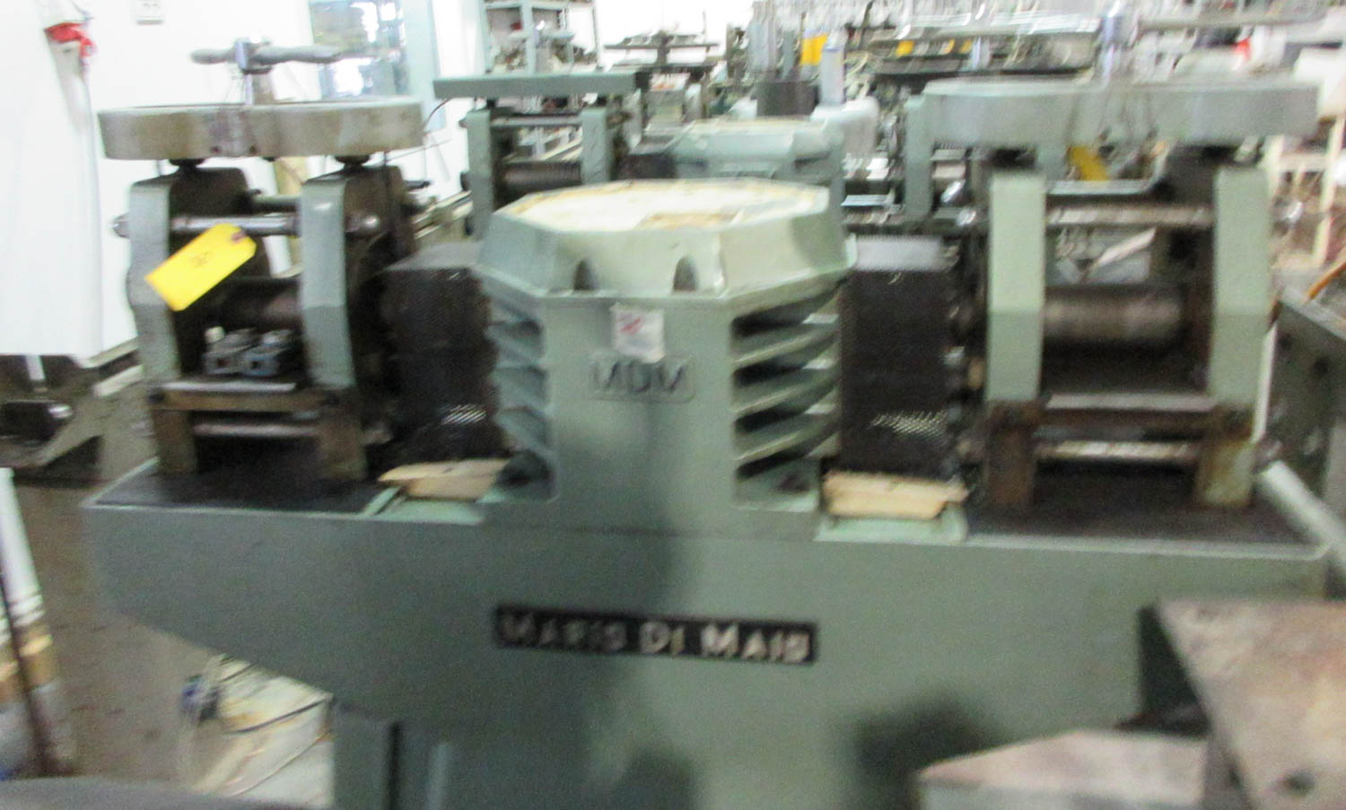 MARIO DI MAIO MDL. GLY60 AMBIL DOUBLE ROLLING MILL FOR PLATE AND WIRE REDUCTION; DOUBLE-SIDED PRESS;