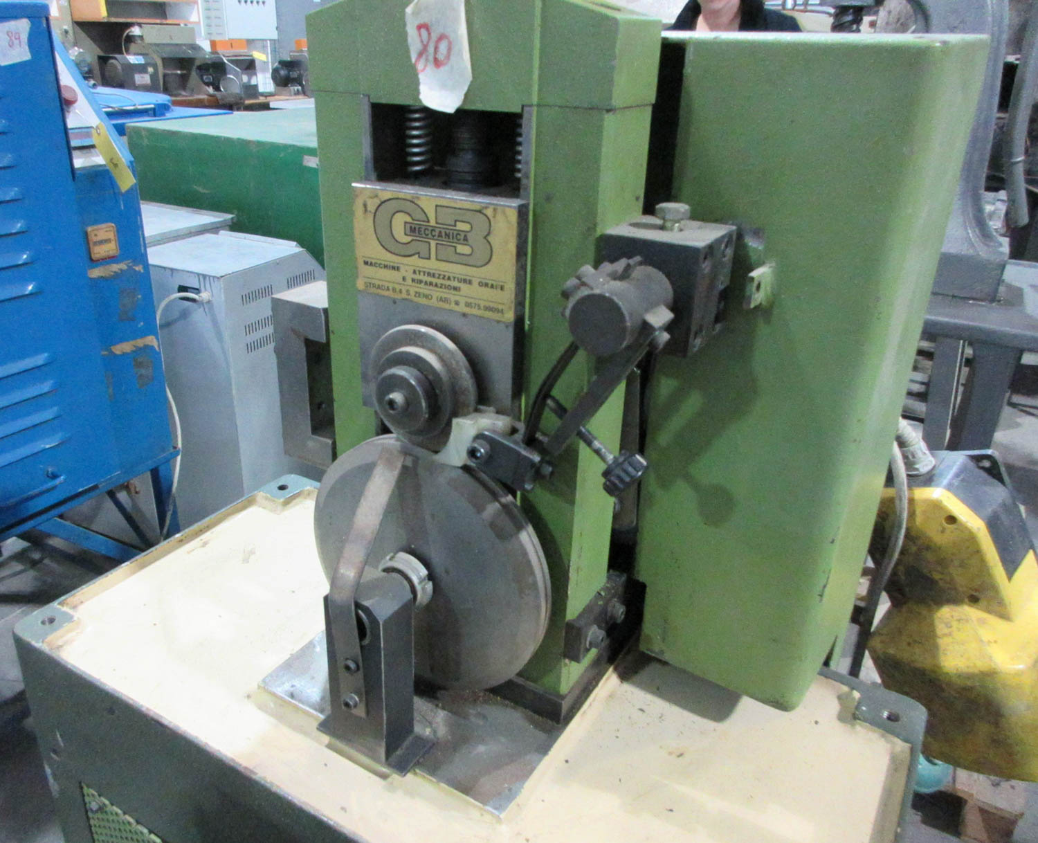 Lot 51 - GB MECCANICA MDL. GALANDRA OVALE MACHINE FOR BRACELETS, OVAL AND ROUND; SCREWTYPE CIRCLE SHEARER
