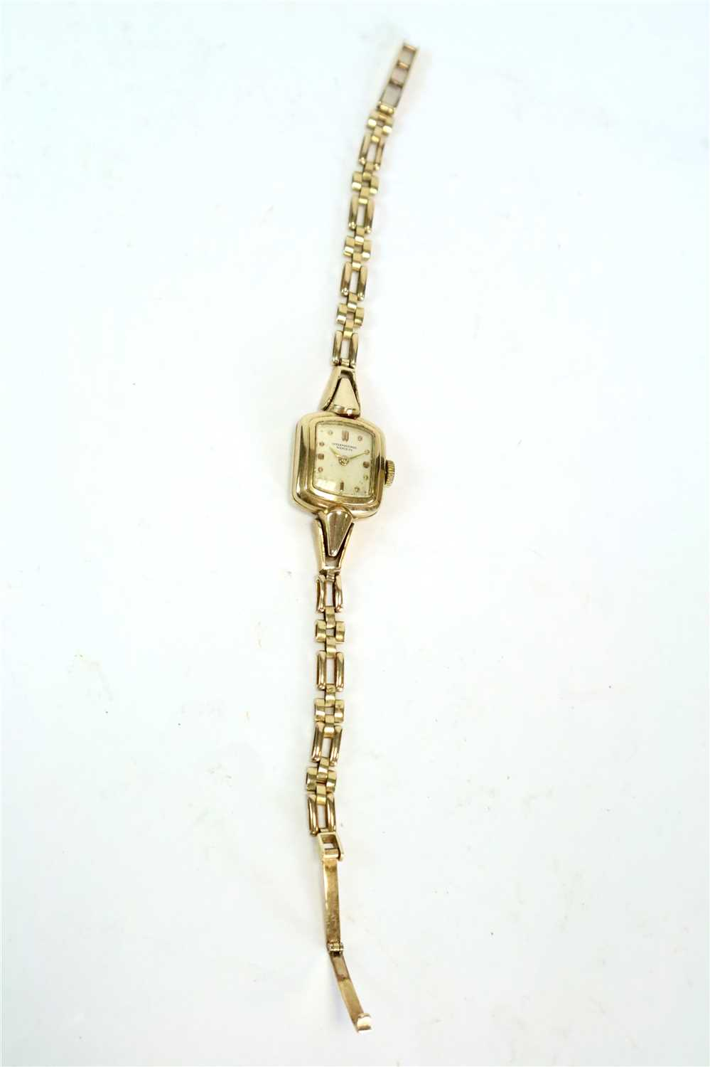 Lot 212 - A 9ct gold IWC bracelet watch