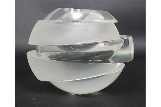 A Stunning Rosenthal Studio Line Blokglas Sand Blasted Heavy Glass