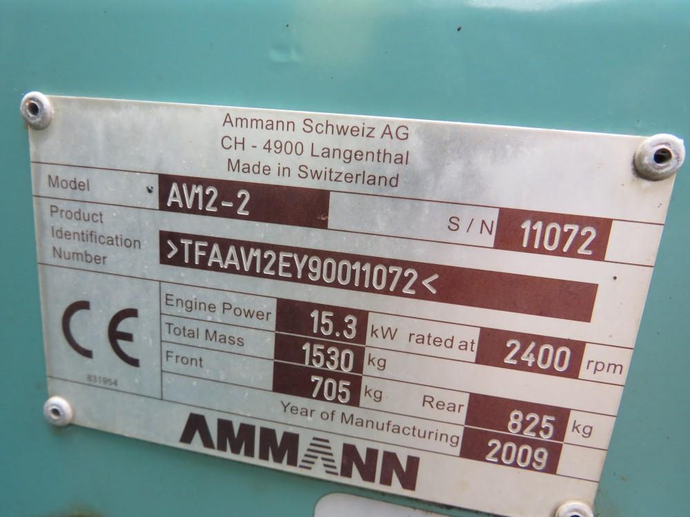 2009 AMMANN SCHWEIZ AV 12-2 ROLLER, 718 HOURS [+ VAT] - Image 5 of 5