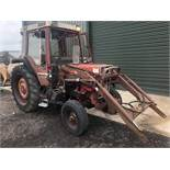 B reg INTERNATIONAL 785XL TRACTOR C/W POWER LOADER (LOCATION SHEFFIELD) NO V5 (RING FOR COLLECTION