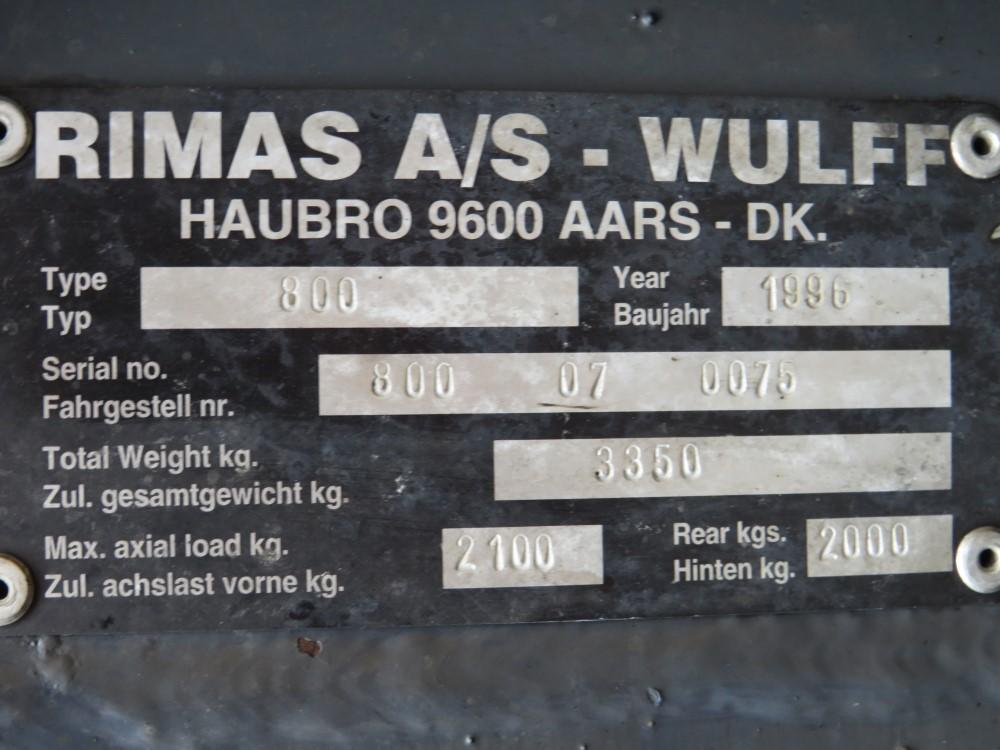 1996 WULFF 800 ATV 4WD MULTI TOOL C/W SNOW PLOUGH & SALT SPREADER, 6764 HOURS NOT WARRANTED [+ VAT] - Image 6 of 6