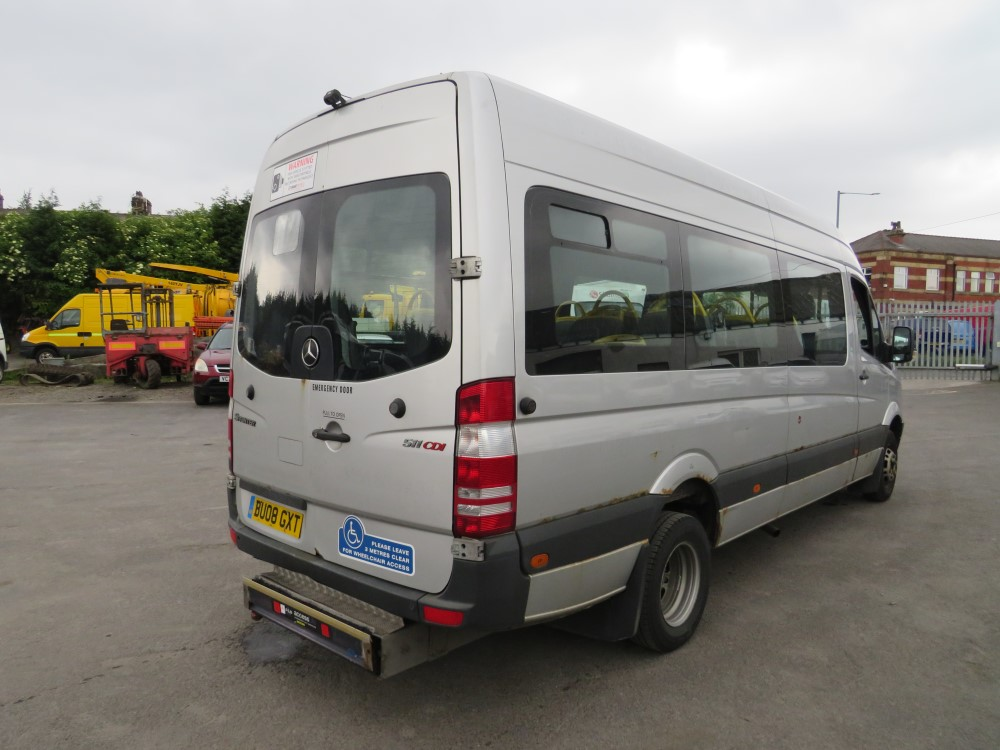 08 reg MERCEDES SPRINTER 511 CDI MINIBUS, 1ST REG 08/08, TEST 08/20, 588120KM, V5 HERE, 1 OWNER FROM - Image 4 of 6