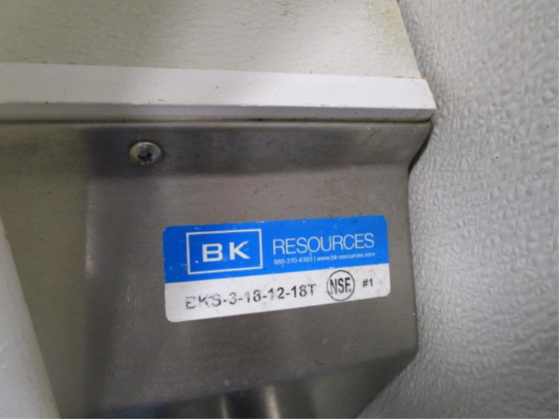 """Three Compartment Sink w/ Dual Side Drainboards, Sprayer, 89"""" - Image 4 of 4"""