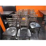 (14) Metal Frame Dinning Chairs w/ Wood Seat