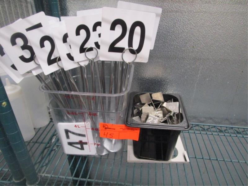 Lot Of Table Numbers & SS Numbers