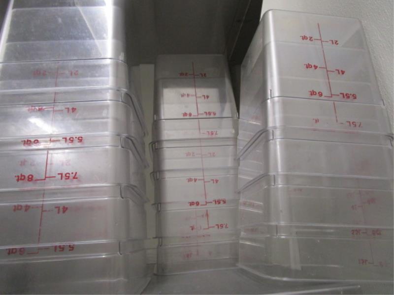 Lot Clear Plastic Food Containers, 4QT, 6QT & 8QT - Image 3 of 3