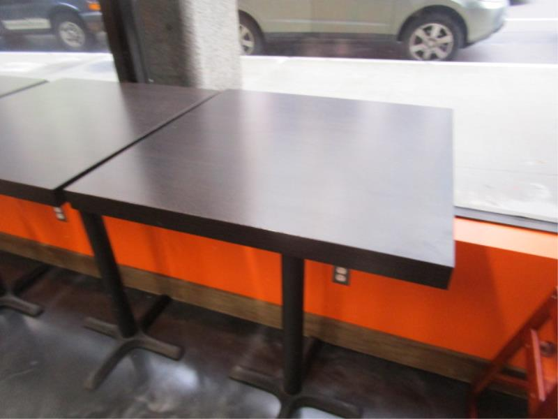 (5) Bistro Tables, w/ Dark Wood Top by BFM Seating - Image 3 of 7