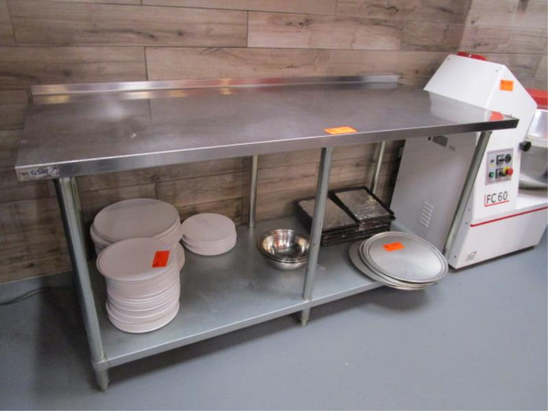 6' Stainless Steel Prep Table - Image 2 of 2