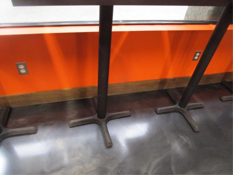 (5) Bistro Tables, w/ Dark Wood Top by BFM Seating - Image 5 of 7