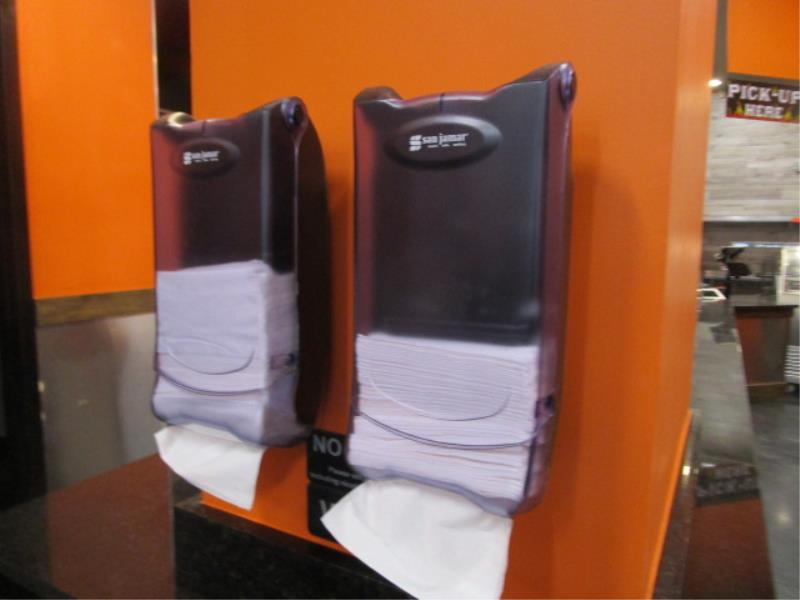 (3) Dixe Wall Mounted Utensil Dispensers & (2) Napkin Dispenser - Image 3 of 3