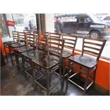 (12) Bar Stools, Metal Frame, Wood Seat