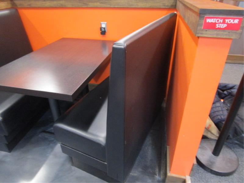 (8) Black Vinyl Single Sided Booth Sections - Image 4 of 6
