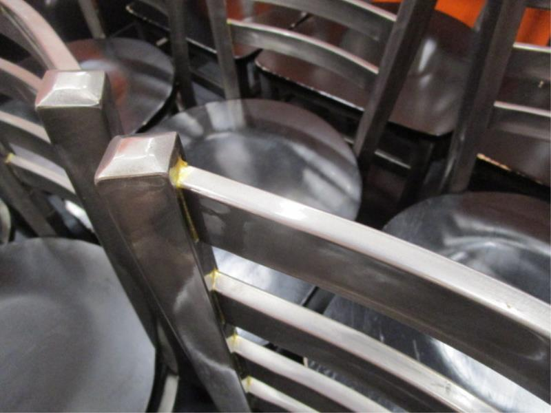 (14) Metal Frame Dinning Chairs w/ Wood Seat - Image 5 of 5