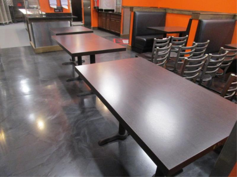(6) Four Top Laminate Tables & (1) Two Top Table - Image 4 of 5