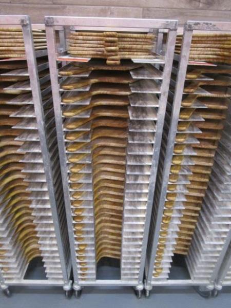 Sheet Pan Rack by Channel w/ Wood Pizza Peels