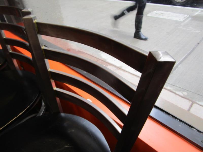 (12) Bar Stools, Metal Frame, Wood Seat - Image 3 of 4