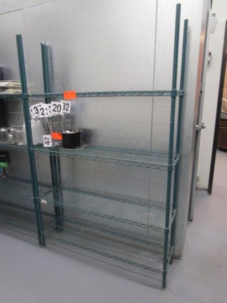 "Metal Wire Metro Style Rack, 4' x 75"" x 12""d"
