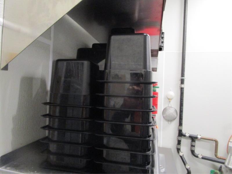Lot 38 - Lot Black Plastic Inserts & Tub Of Clear Lids