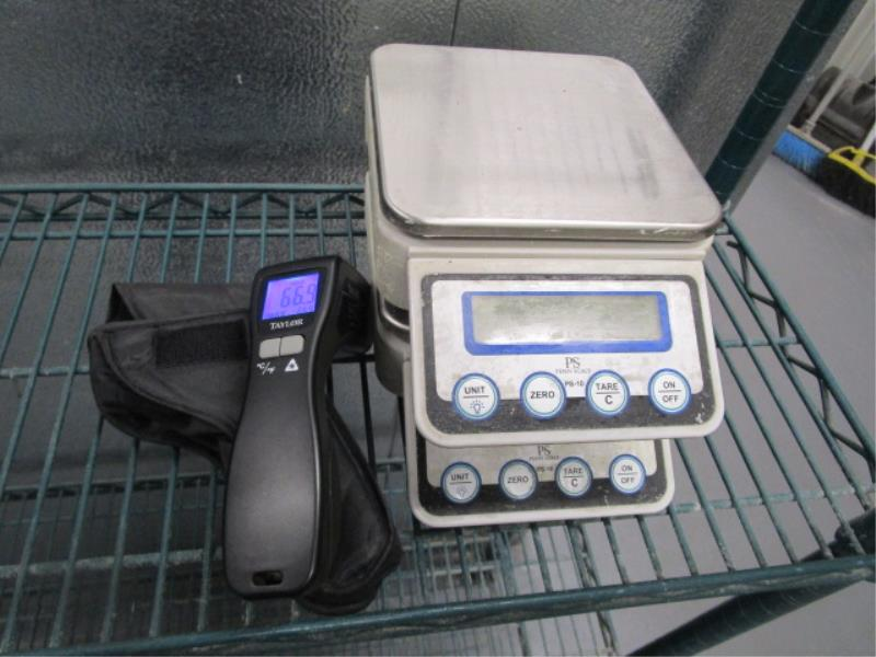 (2) PS Pen Portion Scales & Taylor Laser Thermometer, Model: 9523