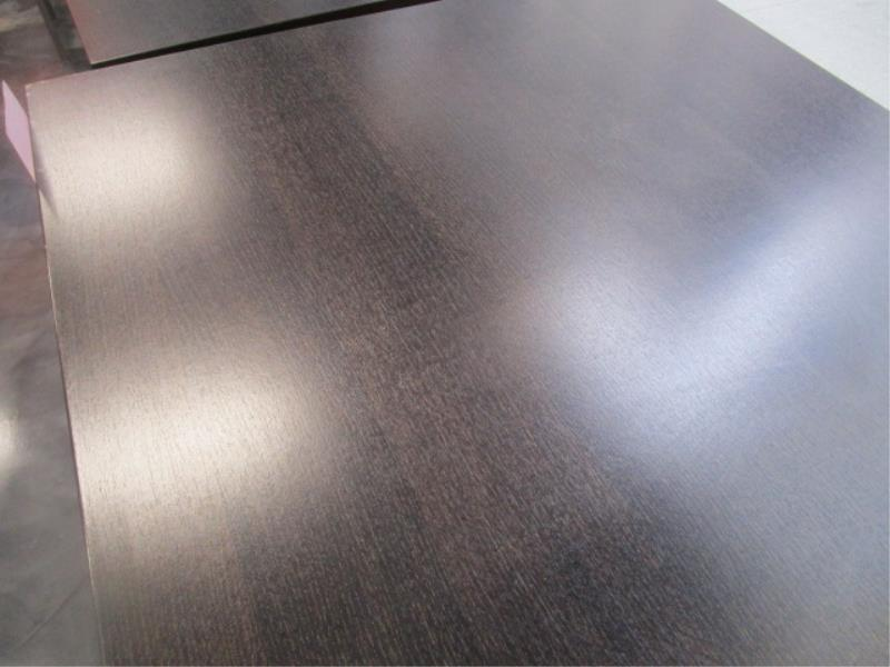 (5) Bistro Tables, w/ Dark Wood Top by BFM Seating - Image 4 of 7
